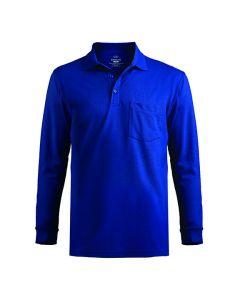 Long Sleeve Pique Polo/Pocket