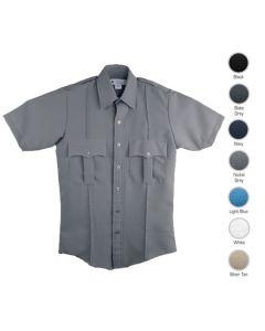 Men's 100% Polyester Short Sleeve Guard Shirts