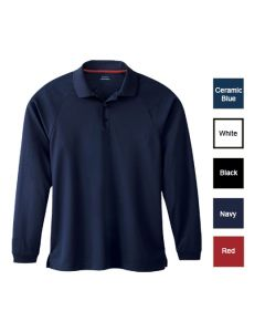 Men's Long Sleeve Performance Pique Polo - Wait Staff Uniforms