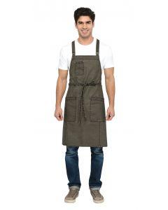 Denver Cross-Back Bib Apron - Culinarily Uniforms