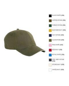 6-Panel Twill Sandwich Baseball Cap - Hotel Uniforms