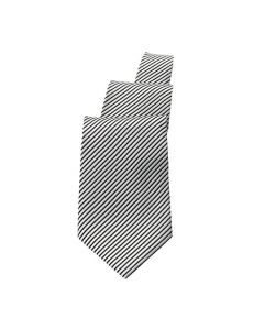 Silver/Black Striped Tie - Hotel Uniforms
