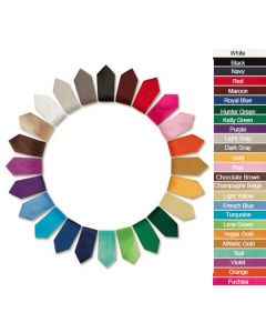 Solid Color Polyester Ties
